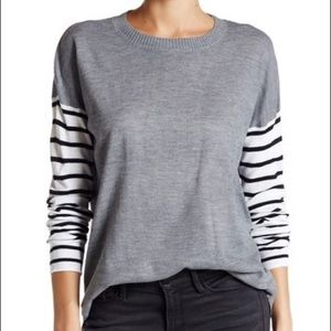 French Connection Drop Shoulder Stripe Sweater